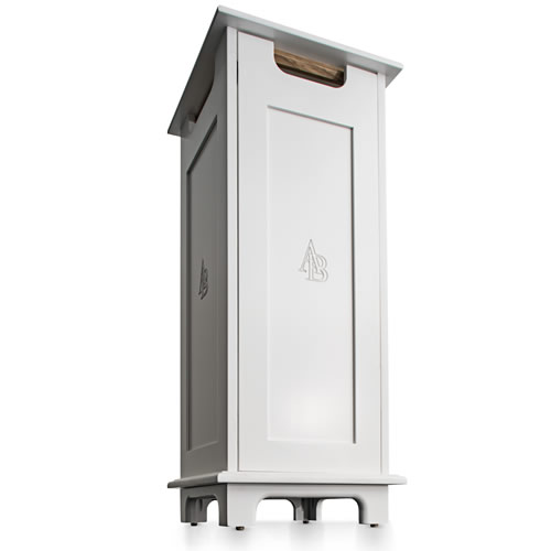 AIRBOX Air Purifier White Maple Cabinet