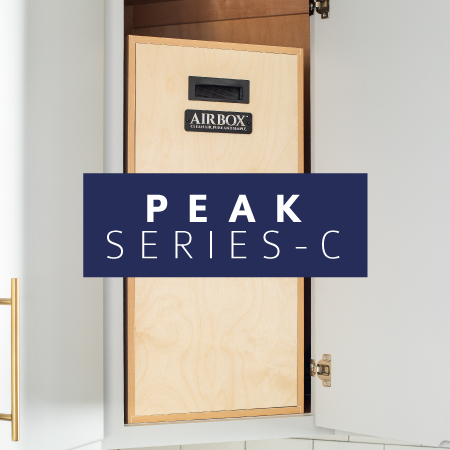 AIRBOX™ peak series-s air purifier cabinet natural wood cabinet