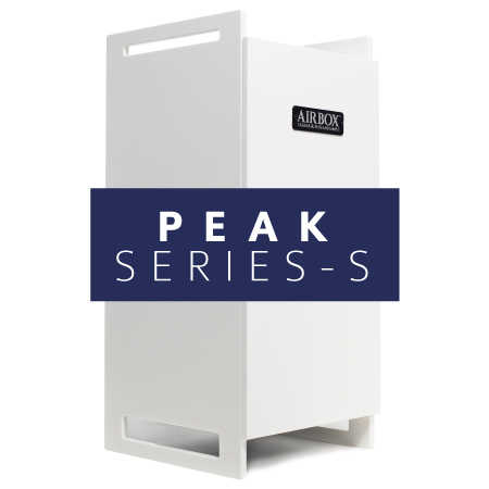 AIRBOX™ peak series-s air purifier stand alone white cabinet